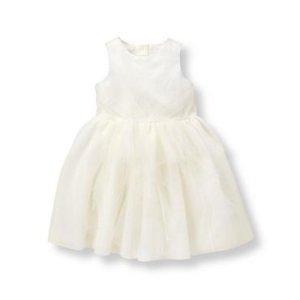 Baby Girl Ivory Shimmer Tulle Dress at JanieandJack