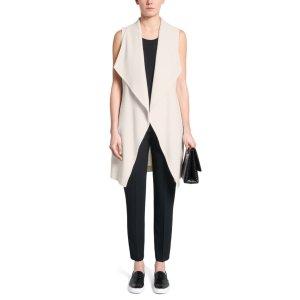 'Kalimi'   Wool Blend Belted Vest