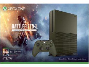$349.99 Xbox One S 1 TB - Battlefield 1 Bundle + Extra Wireless Controller + Headset