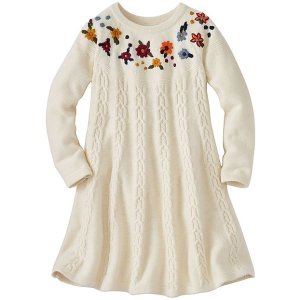 Girls Cable Cozy Sweater Dress | Girls Dresses