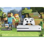 Xbox One S 500GB Minecraft Favorites Bundle - Robot White