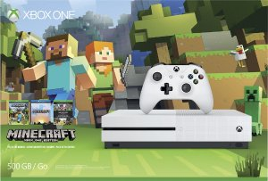 2016 Black Friday! $249.99 Xbox One S 500GB Minecraft Favorites Bundle - Robot White