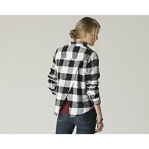 Women's Buffalo Check Flannel Shirt