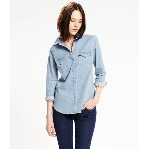 Tailored Western Shirt   Light Indigo  Levi's® United States (US)