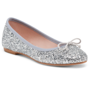 Made In Italy Glitter Ballet Flats