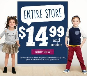 $14.99 and Under + Free Shipping Entire Store @ Gymboree