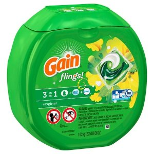 Gain Flings 42ct Original Laundry Detergent Pacs : Target