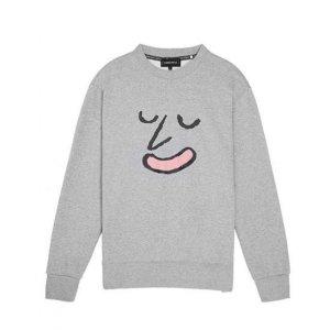 STEREO VINYLS [aw16 Jj X Sv] Face Terry Sweatshirt(grey)