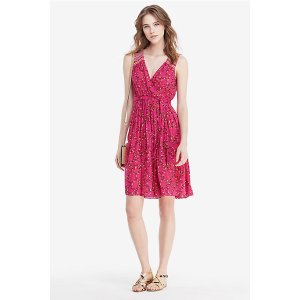 DVF Bali Embroidered Chiffon Wrap Dress | Landing Pages by DVF