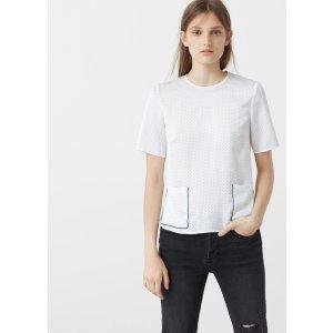 Polka-dot print blouse - Women | MANGO USA