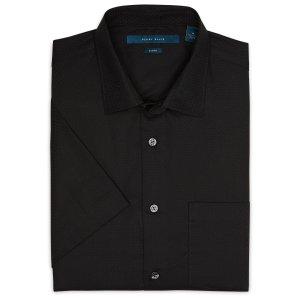 Slim Short Sleeve Dot Print Shirt
