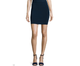 T by Alexander Wang Knit Pencil Skirt, Midnight