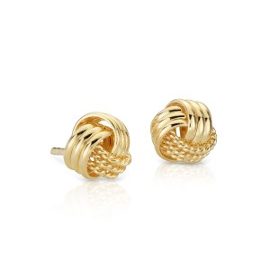 Knot Stud Earrings in Yellow Gold Vermeil | Blue Nile