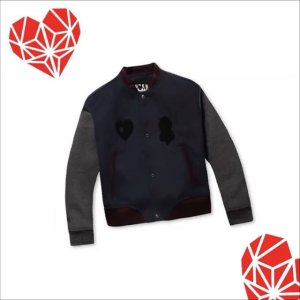 [HYONI&SCB] Casual woolen stadium jumper(navy)