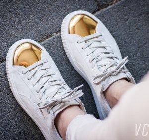 $60(原价$100)免邮!MiuMiu替代款!PUMA麂皮金色子弹头女鞋热卖