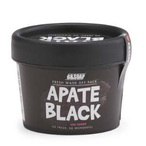 Made In Korea Paraben Free Black Hand Whipped Mask