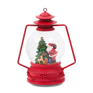 Led Musical Lantern Snow Globe - Rustic Woodland - T.J.Maxx