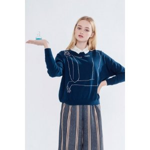 Angel Arms Jumper (Navy) - Miss Patina - Vintage Inspired Fashion