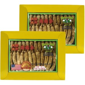 Long American Ginseng Medium 8oz box X 2