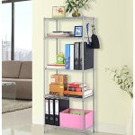 LANGRIA 5 Tier Modern Storage Organization Rack Shelving Rack Shelving Unit