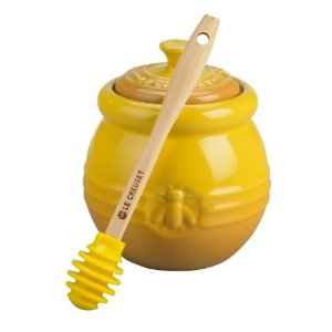 HONEY POT WITH SILICONE DIPPER
