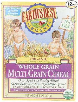$22.26包邮Earth's Best 有机全麦多谷物米粉 12盒x8盎司