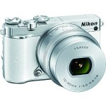 Nikon 1 J5 Mirrorless 20.8MP Digital Camera w/ 10-30mm Lens White Factory Refurbished