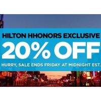20% Off Hilton Hhonors Exclusive Sale @ Hilton