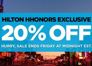 20% OffHilton Hhonors Exclusive Sale @ Hilton