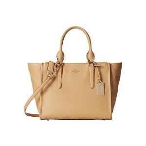 COACH Crossgrain Leather Crosby Carryall LI/Nude - 6pm.com