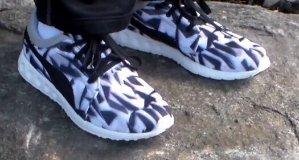 Men's Puma Carson Runner Geo Camo Casual Shoes
