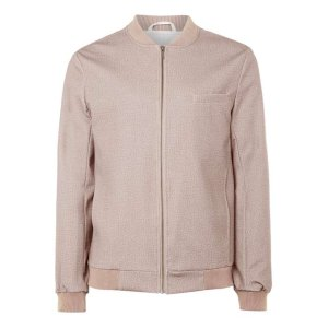 Dusty Pink Tailored Jersey Bomber Jacket
