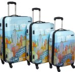 "$249 Samsonite CityScapes NYC 3 Piece Premium 20"", 24"", 28"" Spinner Luggage Set"