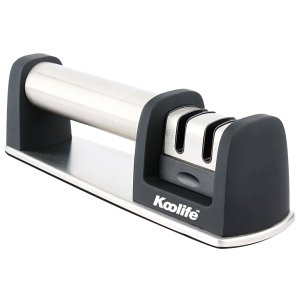 Koolife Knife Sharpener with 2 Stage Coarse & Extra-Fine Sharpening System