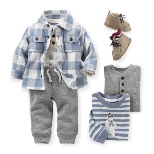 低至4折+满$50额外7.5折Carter's精选婴童秋冬装折上折热卖