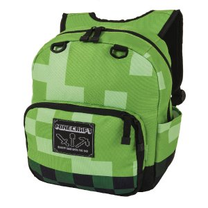 Minecraft Block Mini 12 inch Backpack - Green - United Legwear - Toys