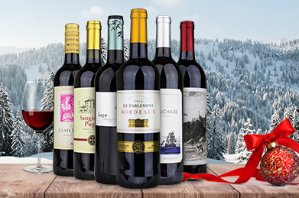6 Bottles of International Red Wine + $100 eGift Card