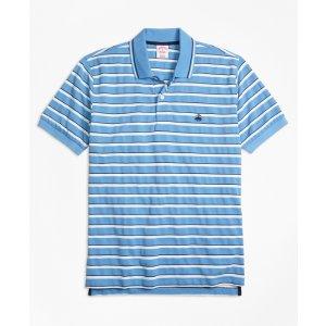 Original Fit Multi-Texture Stripe Polo Shirt - Brooks Brothers