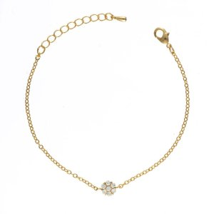 Gold Diamante Charm Bracelet