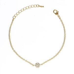 Gold Diamante Charm Bracelet