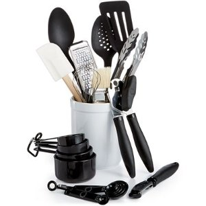 Martha Stewart Collection 20 Piece Kitchen Utensil Set with Crock, Only at Macy's - Clearance & Closeout - Kitchen - Macy's
