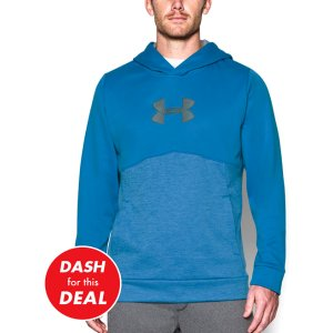 Brilliant Blue Storm Armour® Fleece Logo Twist Hoodie