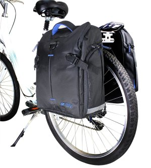 $54.99 BV Bike Panniers (Pair), Large Capacity, 14 L (each pannier), Black