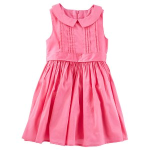 Toddler Girl Pleated Peter Pan Collar Dress | OshKosh.com