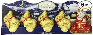 $12.84(原价$19.99)Lindt 瑞士莲牛奶巧克力圣诞礼盒 6盒