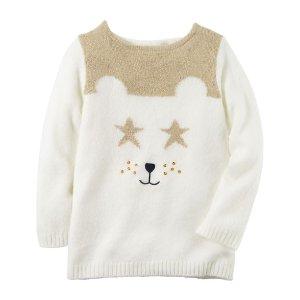 Baby Girl Bear Sweater | Carters.com