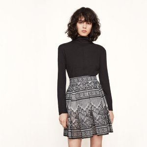 JOUR Bonded lace skirt