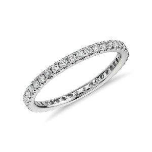 Riviera Pavé Diamond Eternity Ring in 14k White Gold (1/2 ct. tw.) | Blue Nile