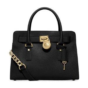 MICHAEL Michael Kors Large Saffiano Hamilton East West Satchel - All Handbags - Handbags & Accessories - Macy's