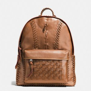 COACH Mens Leather Backpacks | Rip And Repair Campus Backpack In Sport Calf Leather